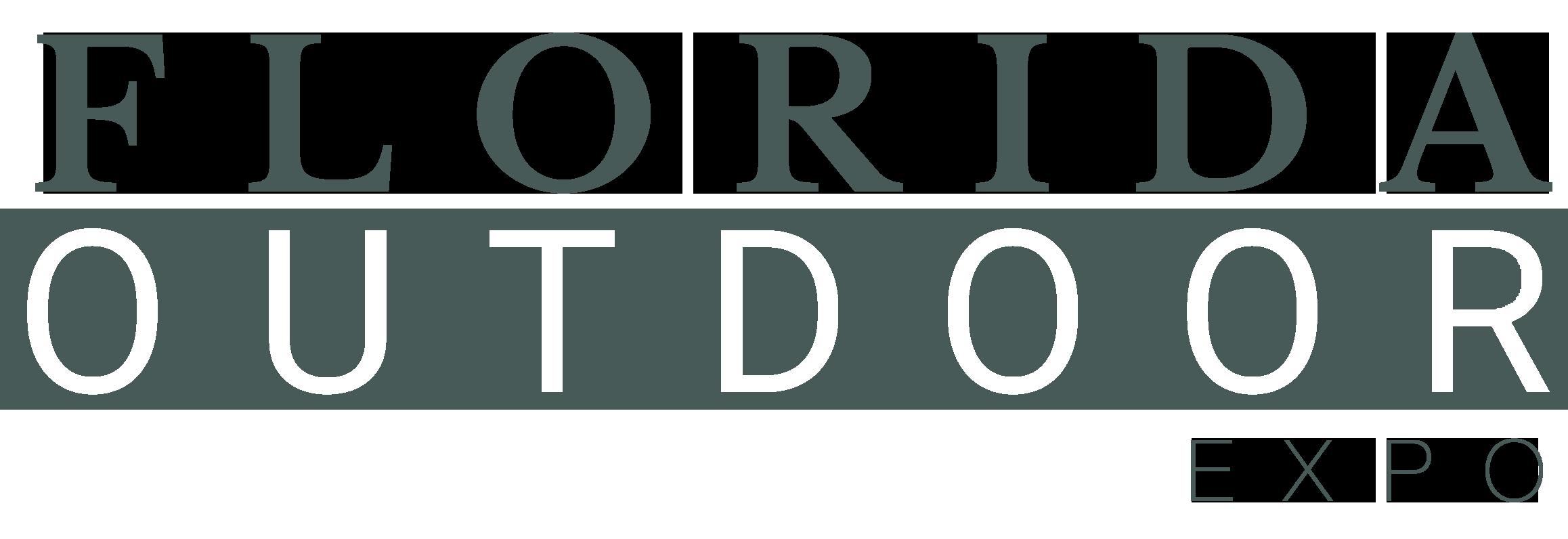 Florida Outdoor Expo Stacked Text Logo